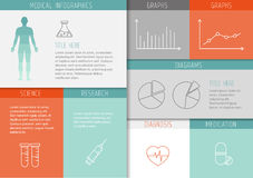 Medical infographics - user interface Stock Image