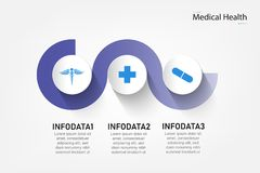 Medical information display Process chart Abstract element of the diagram diagram with step, option, section or process Vector stock illustration
