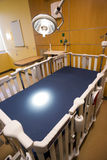 Medical Inspection Light Shines Down Bed Childrens Hospital Room Stock Photography