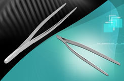 Medical Instrument Forceps Royalty Free Stock Photography