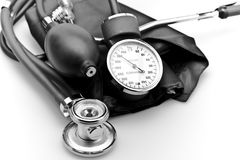 Medical instrument Stethoscope blood pressure Royalty Free Stock Photo