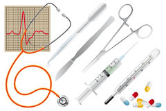 Medical instruments Royalty Free Stock Images