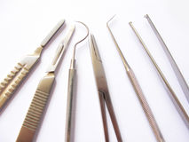 Medical instruments isolated stock image