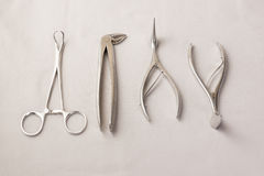 Medical instruments  on a white background Stock Images