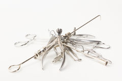 Medical instruments  on a white background Royalty Free Stock Image