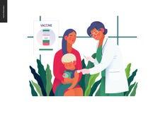 Medical insurance template - childhood immunization. Medical insurance -childhood immunization, vaccination -modern flat vector concept digital illustration vector illustration