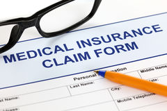 Medical insurance claim form Royalty Free Stock Images