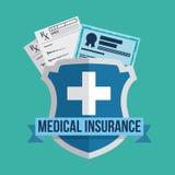 Medical insurance design. Stock Images