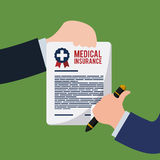 Medical insurance design. Royalty Free Stock Photo