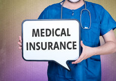 Medical insurance and doctor Royalty Free Stock Photos