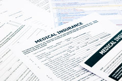 Medical insurance form, Royalty Free Stock Photography