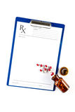 Medical insurance and healthcare, RX form with Capsules Stock Photography