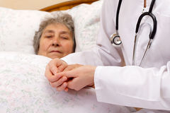 Medical insurance in old age Stock Image