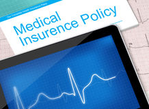 Medical insurance policy Royalty Free Stock Photos