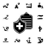 Medical insurance policy icon. Detailed set of insurance icons. Premium quality graphic design sign. One of the collection icons f. Or websites, web design Stock Image