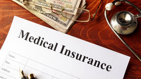 Medical insurance policy. Stock Photo