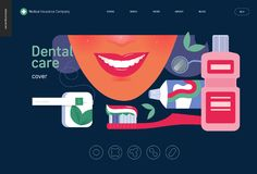 Medical insurance template - dental care royalty free illustration