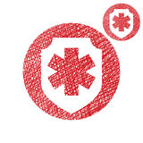 Medical insurance vector simple icon isolated Stock Images