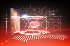 Medical interface in black and red Stock Photography