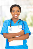 Medical intern laptop Royalty Free Stock Image