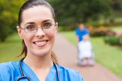 medical intern outdoors Royalty Free Stock Photo