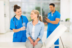 Medical intern patient Royalty Free Stock Photography