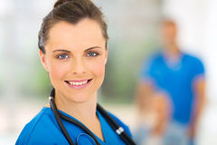 Medical intern portrait Royalty Free Stock Images