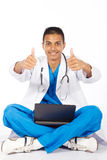 Medical intern thumbs up Royalty Free Stock Photos