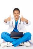 Medical intern thumbs up Royalty Free Stock Photos