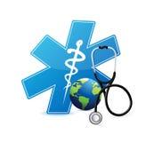 Medical international symbol . illustration design. Isolated over white Stock Image
