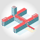 Medical isometric building. Stock Photo