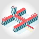 Medical isometric building. Stock Photo