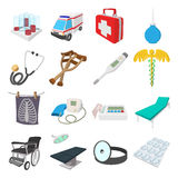 Medical isometric 3d icons. On white background Stock Photos