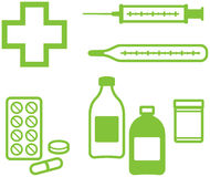 Medical Items – Vector illustration Royalty Free Stock Image