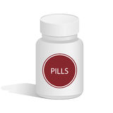 Medical jar for pills Stock Image