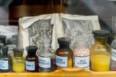 medical jars dekoratiye. Decorated Royalty Free Stock Image