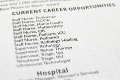Medical jobs Stock Images