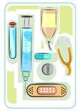 Medical kit design  Royalty Free Stock Photos