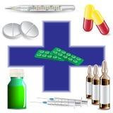 The medical kit,eps 10. The medical kit,eps 10 Royalty Free Stock Photos