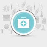 Medical kit first aids. Medical first aids icon vector illustration graphic design Royalty Free Stock Photos