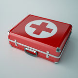 Medical Kit. First aids. Medical Kit on white isolated background. 3d Stock Photography