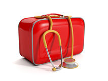 Medical kit on a white background Royalty Free Stock Photo