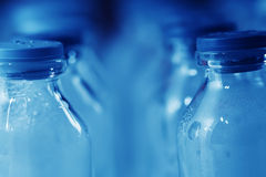 Medical Lab equipment - bottles detail royalty free stock photography