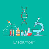 Medical and lab equipments. Royalty Free Stock Photos