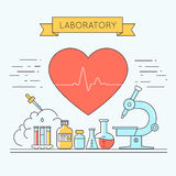 Medical and lab equipments.  Royalty Free Stock Photo