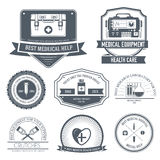 Medical label template of emblem element for your Royalty Free Stock Photo
