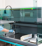 At medical laboratory Stock Images