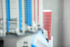 Medical laboratory conducts research. Petri dish, close-up Royalty Free Stock Photography