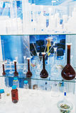 Medical and laboratory equipment at the exhibition stock photo