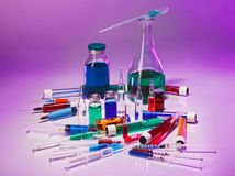 Medical laboratory glass equipment Royalty Free Stock Photo
